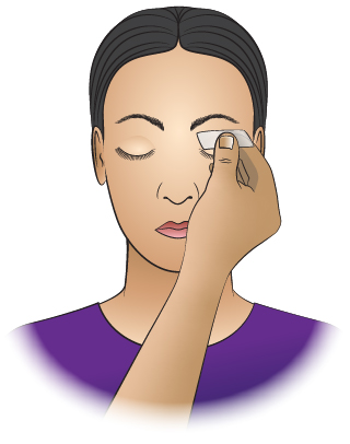 First Aid - Eyelids - Glass On